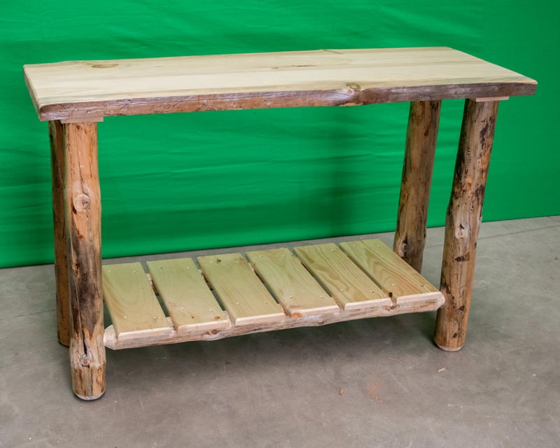 Northern Rustic Pine Sofa Table
