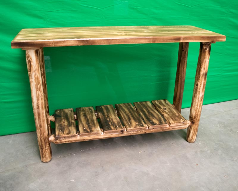 Northern Torched Cedar Sofa Table