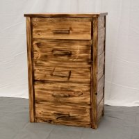 Torched Farmhouse 5 Drawer Dresser