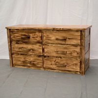 Torched 6 Drawer Farmhouse Dresser