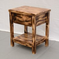 Torched Farmhouse Nightstand