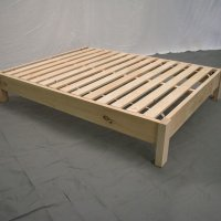 Unfinished Farmhouse Platform Bed